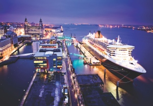 Queen Mary 2 at Liverpool courtesy of Sea Breezes