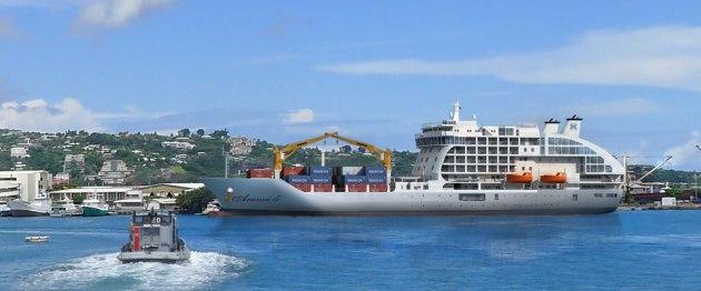 South Pacific Cargo Ship Voyage Aranui 5s Maiden Voyage