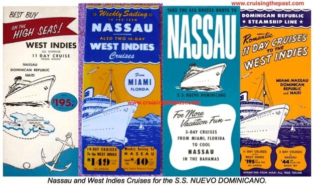 Nuevo Dominicano cruise brochures