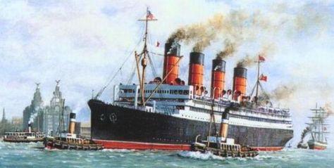 Aquitania maiden voyage 30.05.14