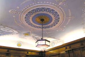 Cunard Building - ceiling view