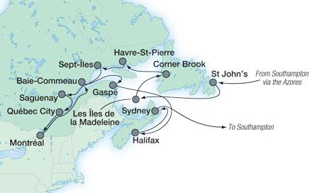 Saga Sapphire Canada cruise