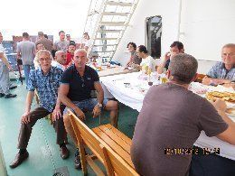 CMA CGM Musca passenger and captain with crew