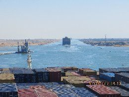 CMA CGM Musca passes through Suez