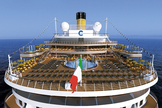 Costa Diadema stern view