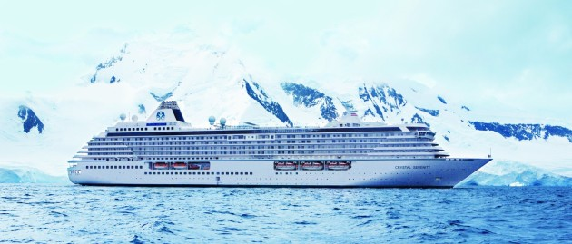 Crystal Serenity in the ice