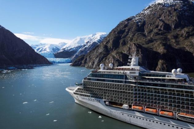 Celebrity Solstice enters Tracy Arm