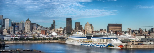 Five ships will be in the Port of Montreal between October 18 and 24 with nearly 10,000 passengers embarking or disembarking, ready to explore the city and its attractions. (CNW Group/Tourisme Montréal)