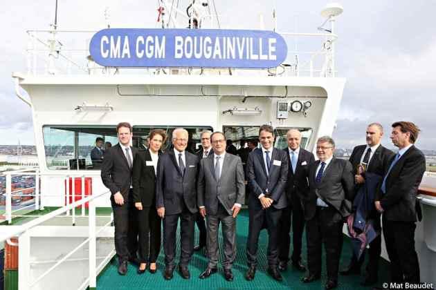 CMA CGM Bougainville Hollande et Saadé