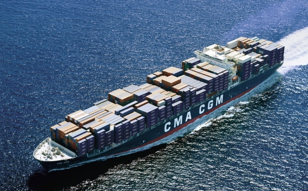 CMA CGM Bellini at sea