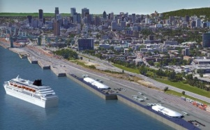 Montreal's temporary terminals at Pier 34-35 & Pier 36-37 2016