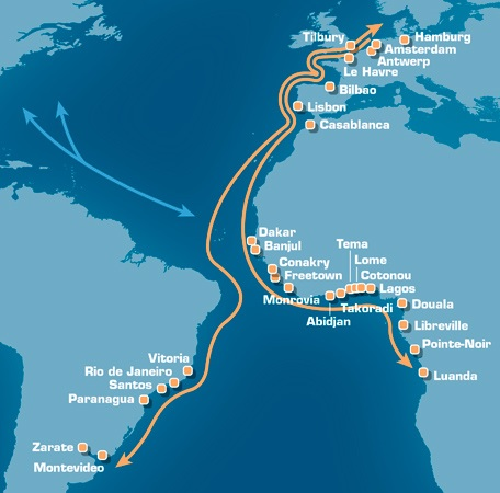 Grimaldi Lines South Atlantic routes