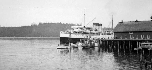 Canadian Pacific's Princess Charlotte at Alert Bay 1930s