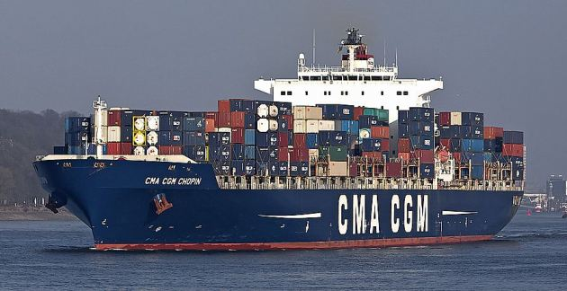 CMA CGM Chopin trades to Australia