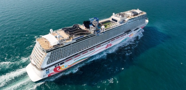 Norwegian Joy with go-kart race track