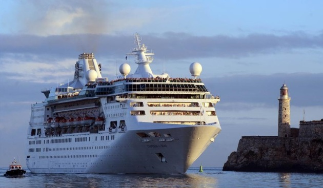 Empress of the Seas arriving Havana for the first time April 23, 2017 - Caribbean News