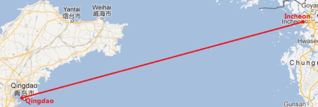 I ncheon-Qingdao ferry