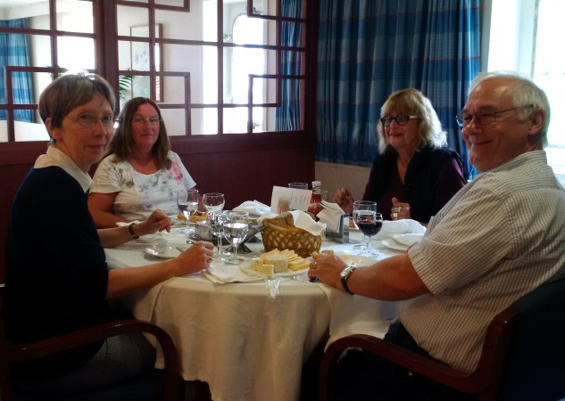 CMA CGM La Traviata - Betty's tablemates at lunch